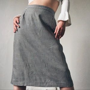 BRAEMAR BY JEREMY SCOTT B&W GINGHAM PENCIL SKIRT
